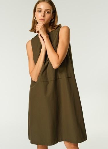 NGSTYLE NGSTYLE Kadın Kolsuz Günlük Elbise Haki